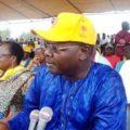 Agbéyomé Messan Gabriel Kodjo lors du rassemblement du Frac le 19 juin à Lomé