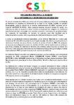DECLARATION RELATIVE A LA MARCHE  DU 15 SEPTEMBRE 2012 EMPECHEE PAR DES MILICIENS