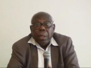 Godwin Tété, historien togolais (capture d'écran). youtube.com