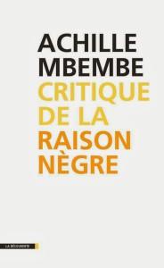 couverture du livre - critique de la raison negre