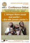 Conférence-Débat JEUDI 10 DÉCEMBRE 2015 - 19H00 - ENTRÉE LIBRE MAISON DES ASSOCIATIONS – GENÈVE